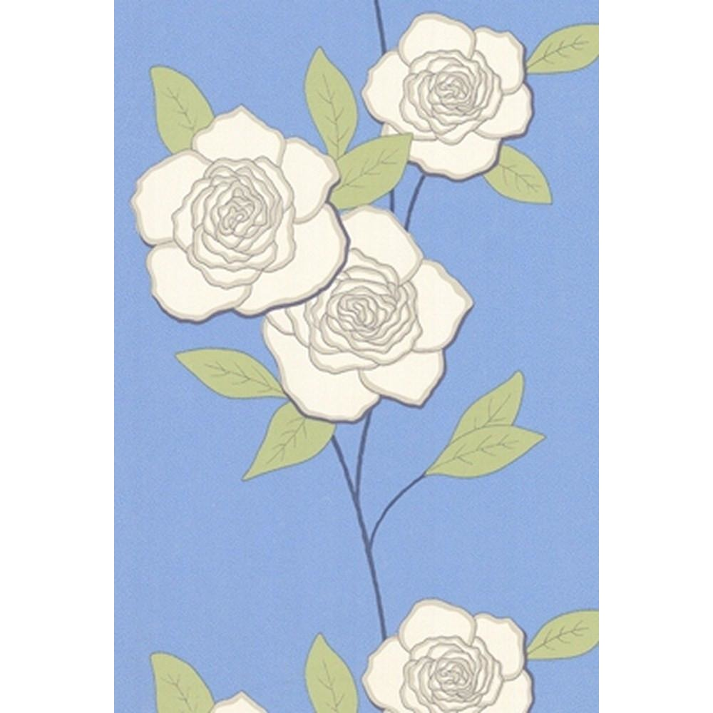 Cole And Son Paper Rose Wallpaper in Sky