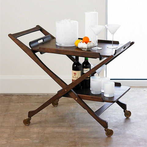Ernest Wooden Bar Cart with Removable Tray