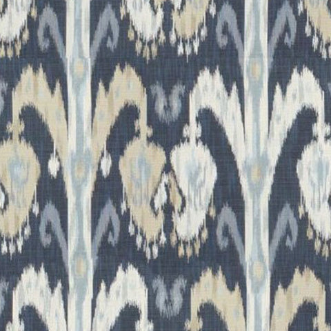 Kravet Fabric by the Yard:  Ikat in Indigo