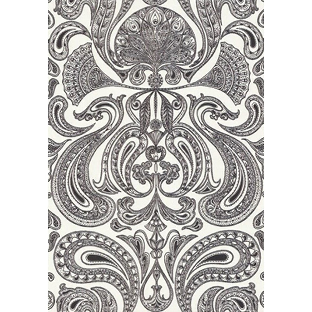 Cole And Son Groovy Paisley Wallpaper In Black White
