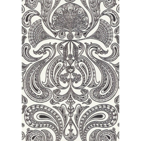 Cole And Son Groovy Paisley Wallpaper in Black/White