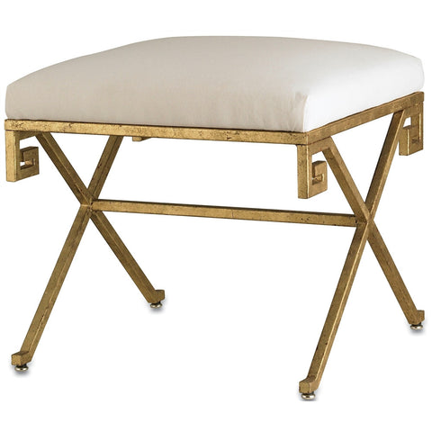 Currey & Company Circe Bench In White