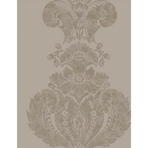 Cole And Son Baudelaire Wallpaper in Taupe/Silver
