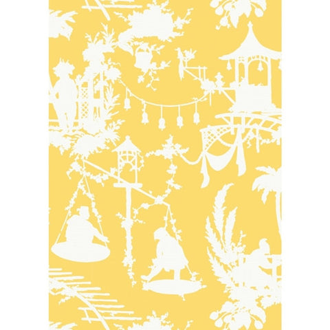 South Sea Wallpaper in Yellow