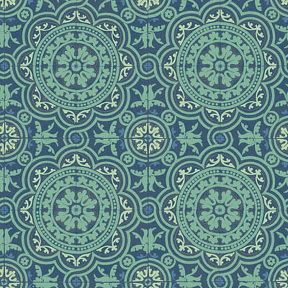 Cole And Son Piccadilly Wallpaper in Teal/Gold