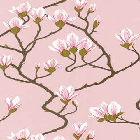 Cole And Son Magnolia Wallpaper in Pink