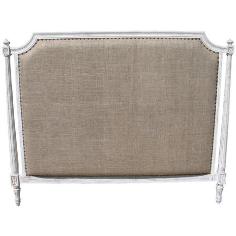 Noir Isabelle Headboard, CA King, White Wash