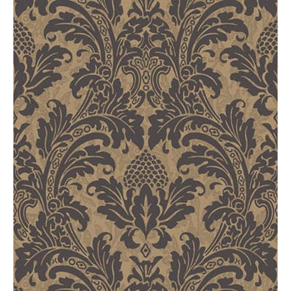 Cole And Son Blake Wallpaper in Black/Gold