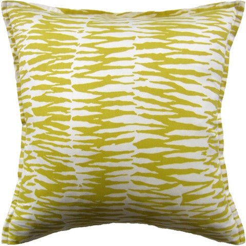 "Ryan Studio Zebra 22"" Pillow In Bamboo"