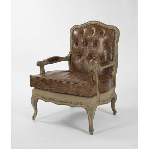 Zentique Bastille Love Chair in Jute/Leather