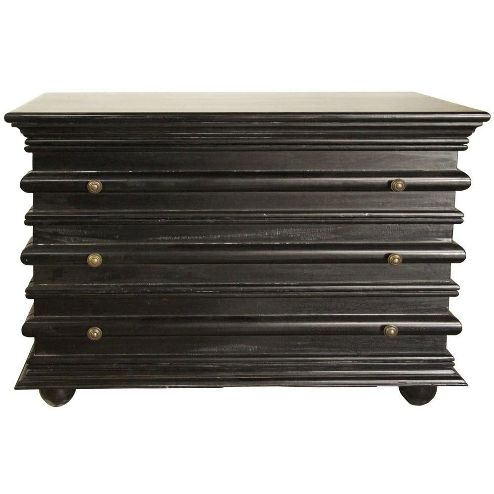 Noir Ascona Small Chest, Hand Rubbed Black
