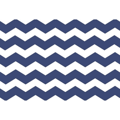 Paper Placemat Pads, Chevron, in Blue