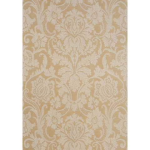 Cheryl Wallpaper in Cream on Metallic Champagne