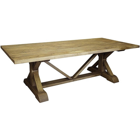 CFC Reclaimed Lumber X-Dining Table, 8'