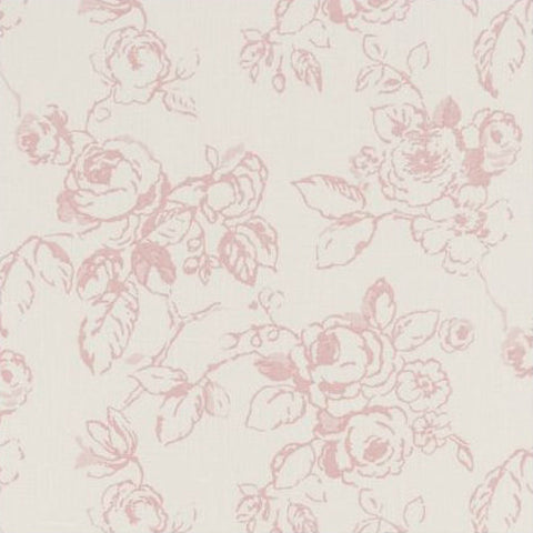 Clarke & Clarke Fabric by the Yard:  Delphine in Rose