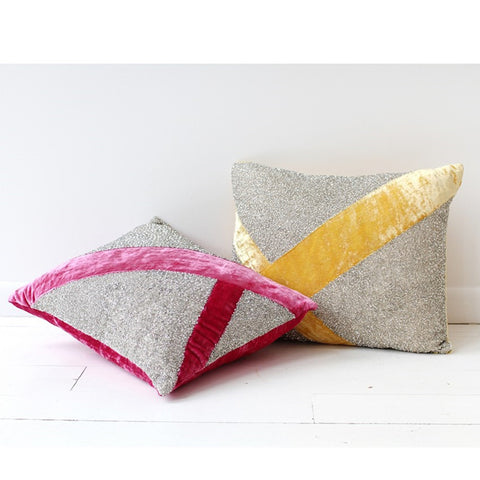 Pyar Lantana Pillow in Fuchsa