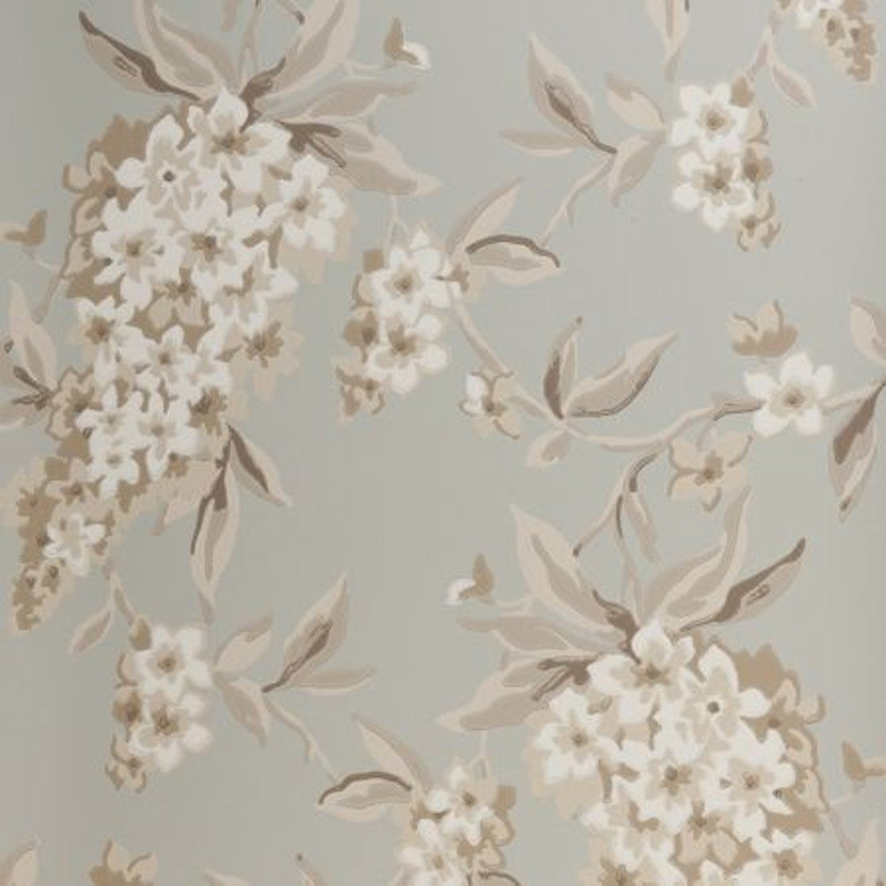 Clarke & Clarke Wisteria Double Roll Wallpaper in Duckegg