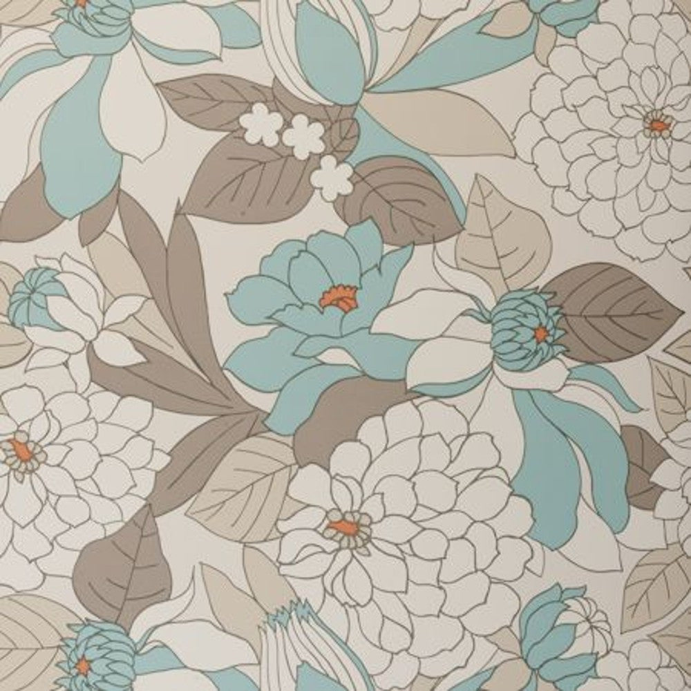 Clarke & Clarke Burst Double Roll Wallpaper in Aqua