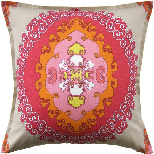 "Ryan Studio Super Paradise 22"" Pillow In Punch"