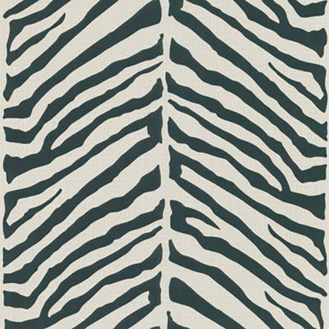 Kravet Zebra Wallpaper In Black