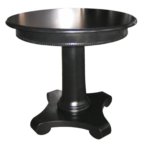 Noir Antigua Round End Table, Black