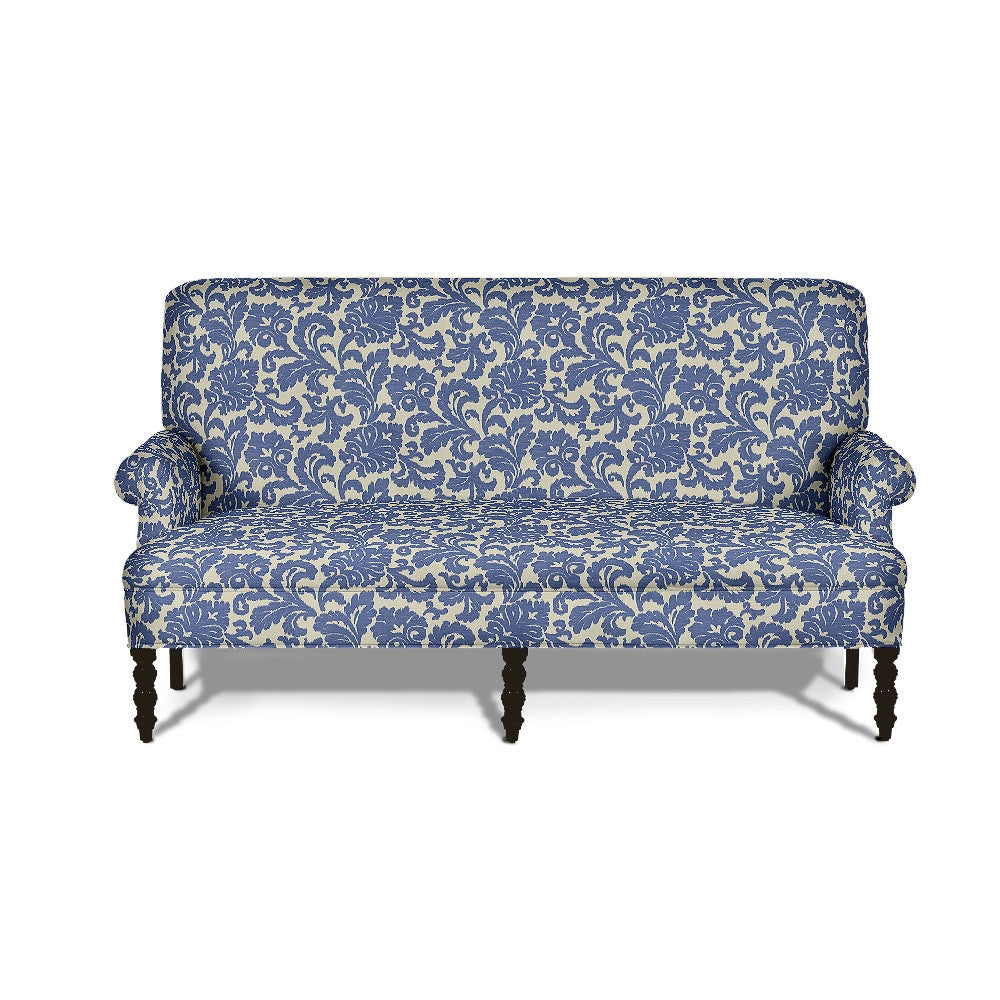 Kravet Bolton Settee In Blue Damask