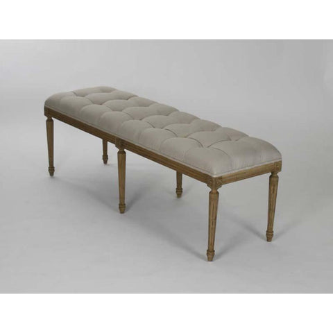 Zentique Louis Tufted Bench in Natural