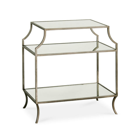Redford House Milla Side Table in Antique Silver
