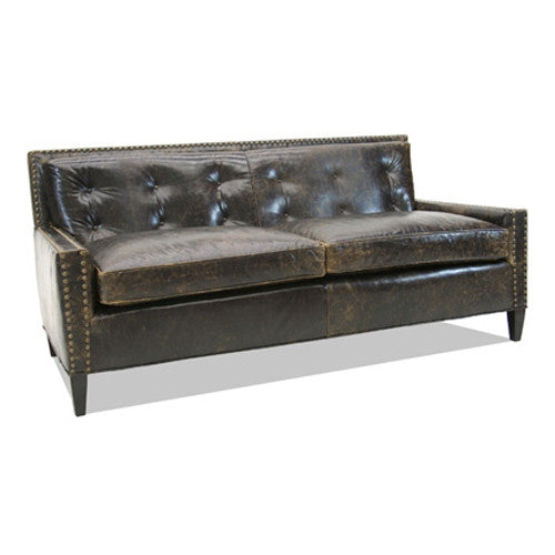 Old Hickory Tannery Bomber Sofa In Black