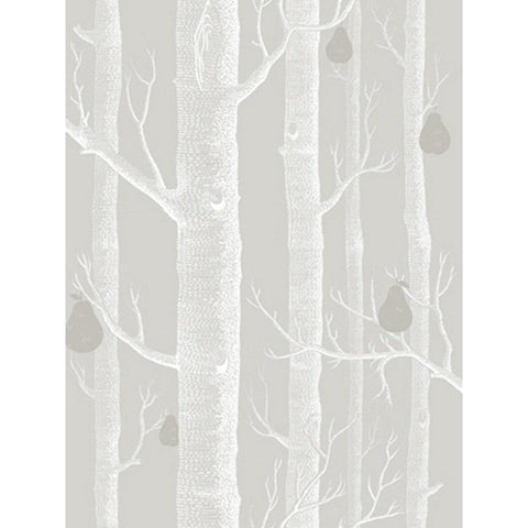 Cole And Son Woods & Pears Wallpaper in Grey