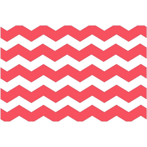 Paper Placemat Pads, Chevron, in Rouge