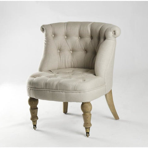 Zentique Amelie Slipper Chair in Natural