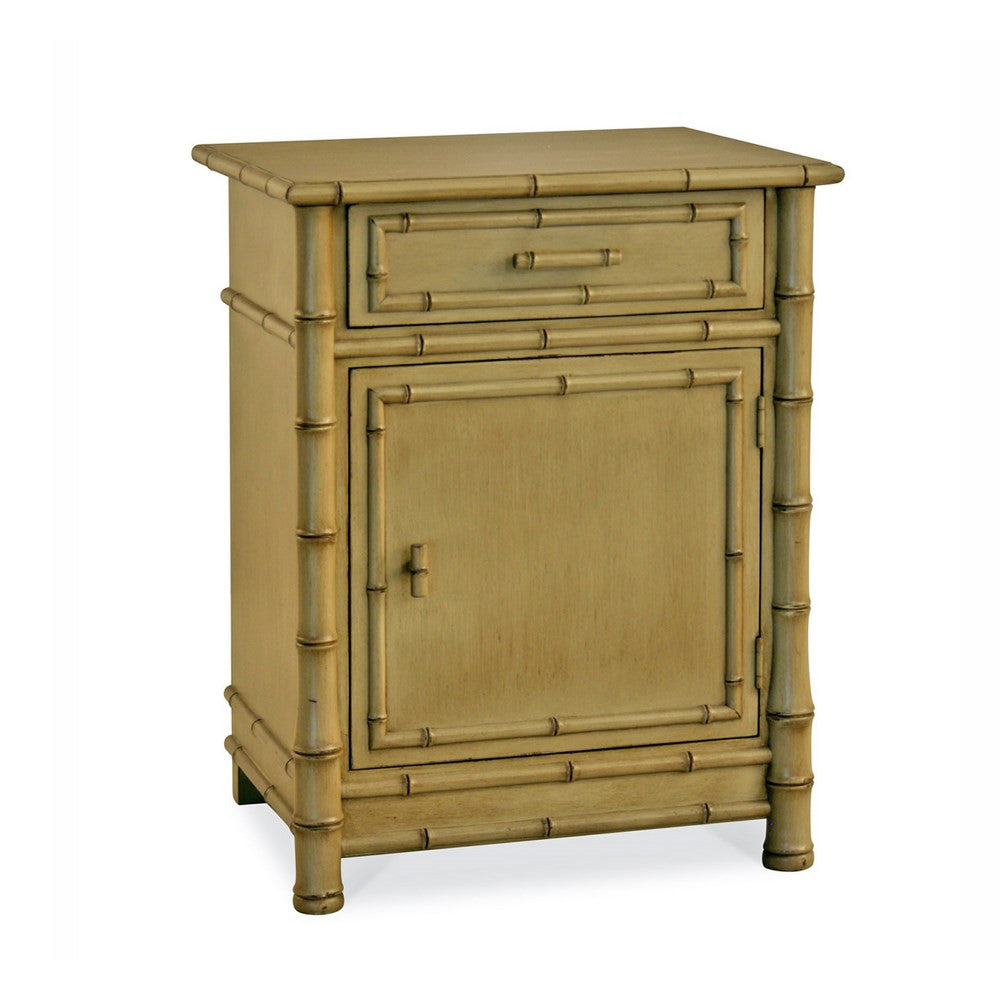 Redford House Faux Bamboo Nightstand in Mushroom