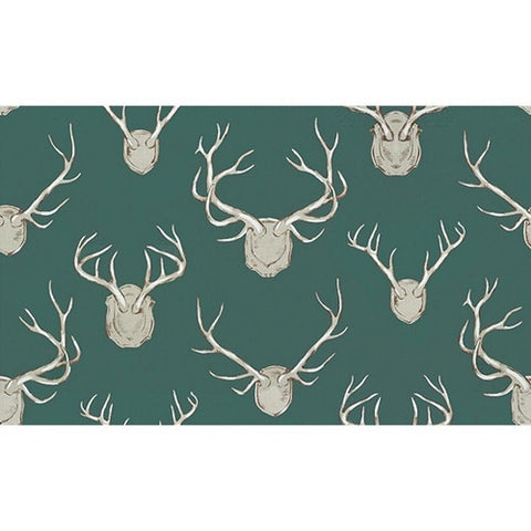 Kravet Fabric by the Yard:  Antlers in Teal