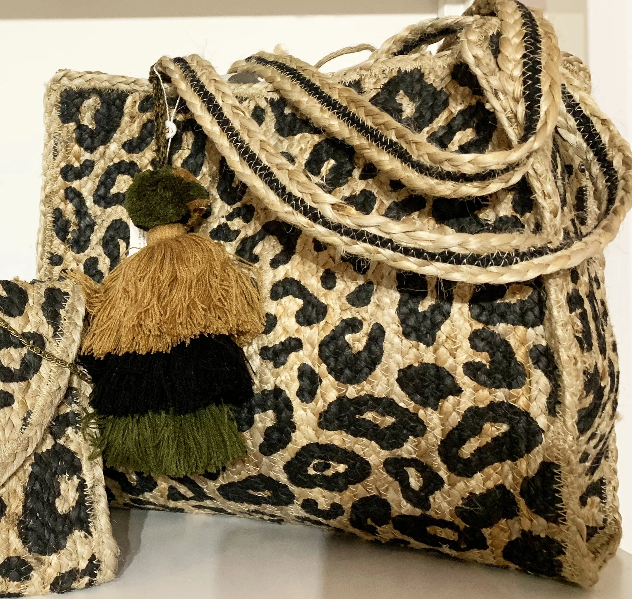 Denise Large Leopard Tote
