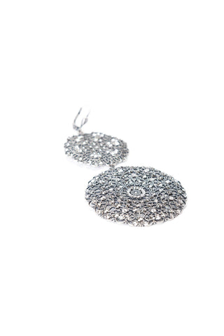 Sheila Lace Earrings in Silver