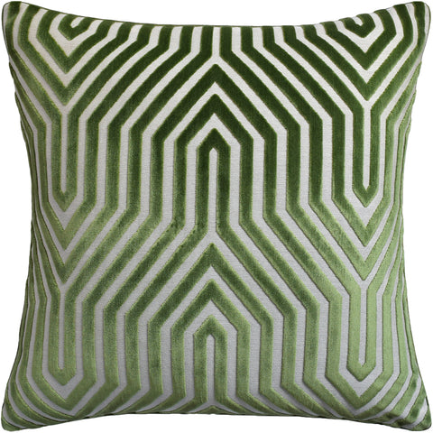 Ryan Studio Vanderbilt Velvet Pillow in Lettuce
