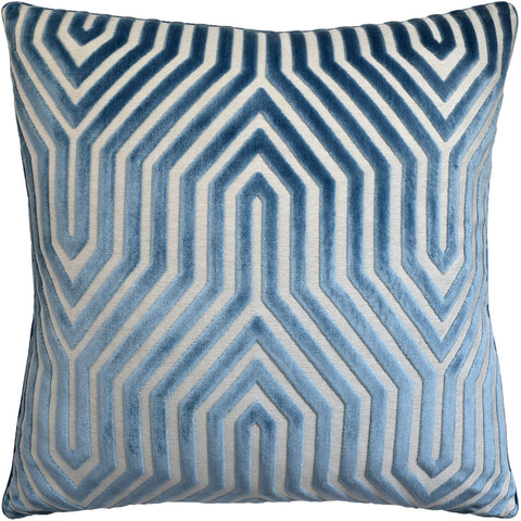 Ryan Studio Vanderbilt Velvet Pillow in Marine