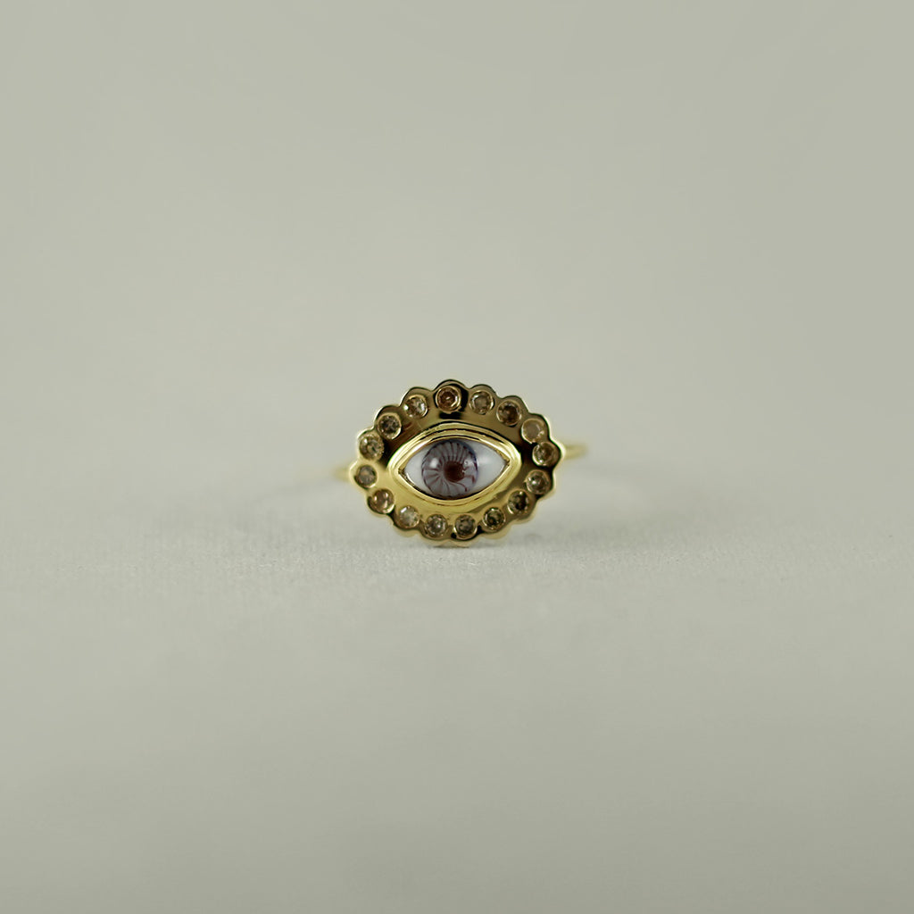 SUNRISE DIAMOND 18K GOLD RING