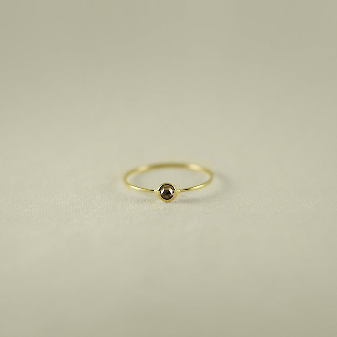 ROSE CUT SMALL DIAMOND 18K GOLD RING