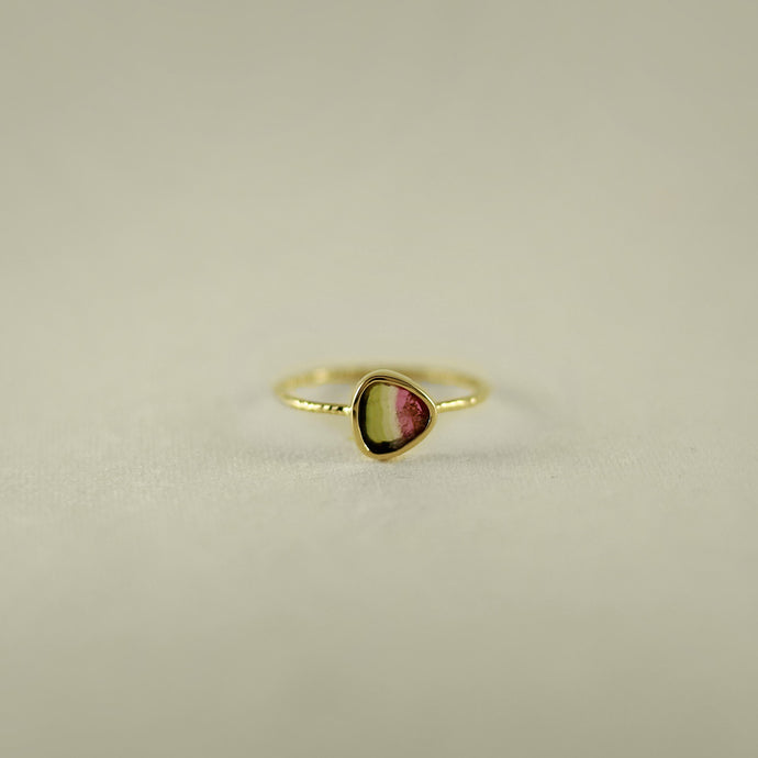 WATERMELON TOURMALINE 18K GOLD RING