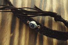 SILVER LEATHER EYE BRACELET
