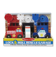 Melissa & Doug® Lock and Roll Rescue Truck Garage
