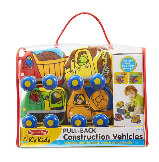 Melissa & Doug® Pull-Back Construction Vehicles