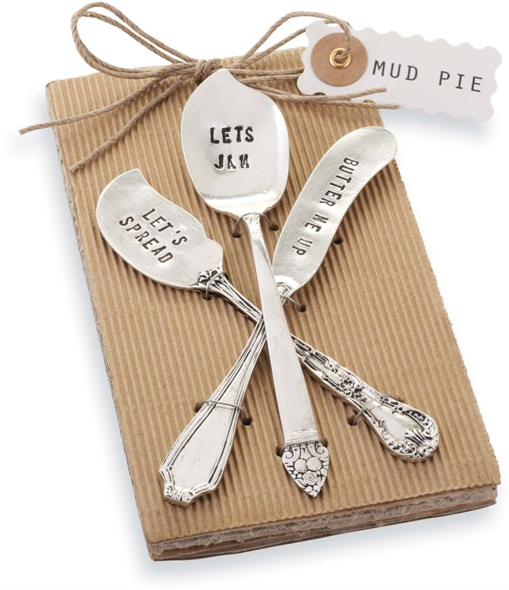 Mud Pie Stamped Spreader Set