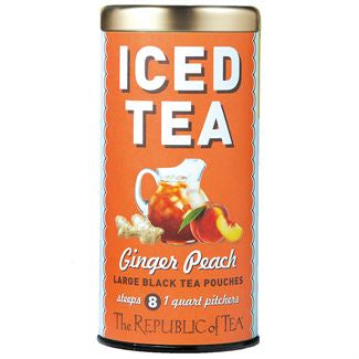 The Republic of Tea - Ginger Peach Black Large Iced Tea Pouches
