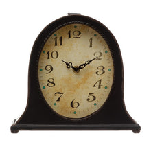 Creative Co-Op Metal Mantel Clock, Black