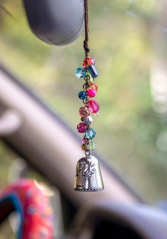 Natural Life Angel Blessing Bell Car Charm