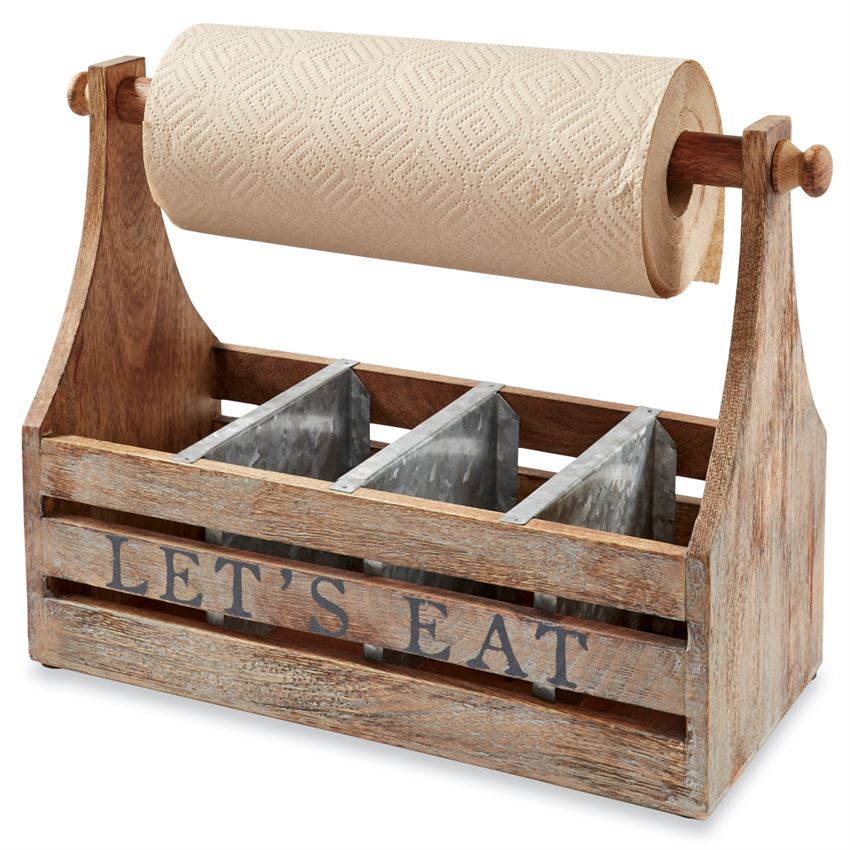 Mud Pie Let's Eat Towel Caddy