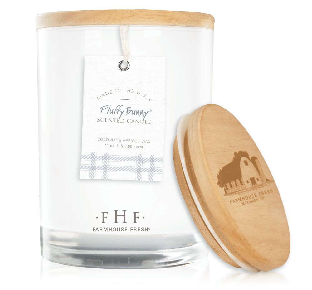 FarmHouse Fresh - Fluffy Bunny®! Candle with Wooden Lid